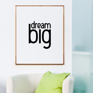 Dream big (82x100cm) 원목액자
