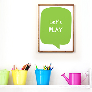Lets play (38x50cm) 원목액자